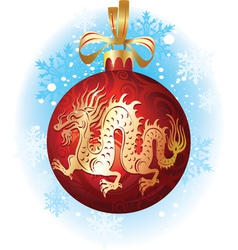 chinese christmas dragon vector image