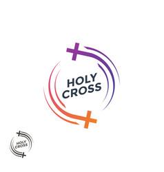 church logo holy cross christian logo vector image