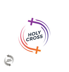 Church logo the holy cross christian logo vector