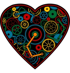 Color mechanical heart vector