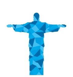 Corcovado christ silhouette icon vector