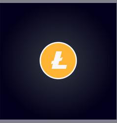 cripto currency logo coin litecoin vector image