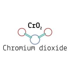 CrO2 chromium dioxide molecule vector image