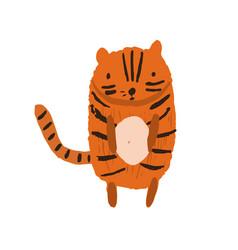 Cute childish striped orange tiger vector