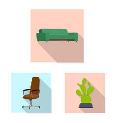 design of furniture and work logo set of vector image