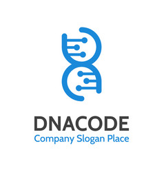 Dna logo concept deoxyribonucleic acid vector