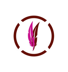feather abstract logo icon vector image