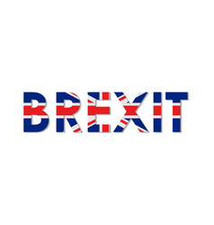 flat brexit concept in england flag style exit gr vector image