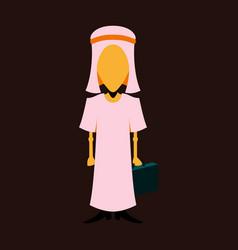 Flat icon on theme arabic business arabic vector
