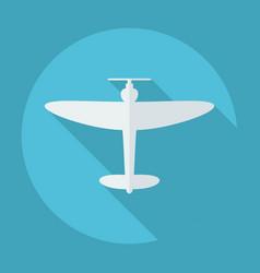 Flat modern design with shadow aircraft vector