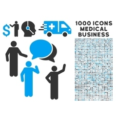 Forum Icon with 1000 Medical Business Pictograms vector image
