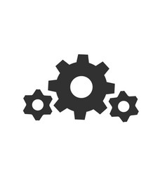 gear wheel cogweel big and small icon isolated vector image