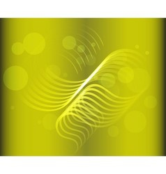 Green abstract shapes on the dark background vector