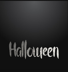 Halloween card with silver lettering vector