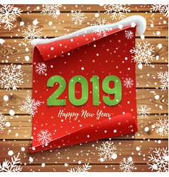 happy new year 2019 greeting card banner template vector image