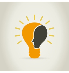 Head in a bulb vector image
