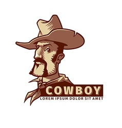 Head with cowboy hat vector