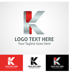 Hi-tech trendy initial icon logo k vector