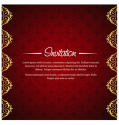 invitation card with creative design vector image