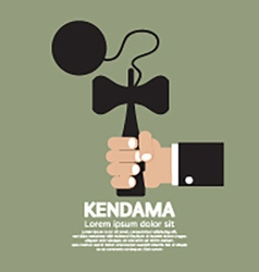 Kendama In Hand vector image