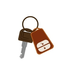 Key ring with alarm system vector