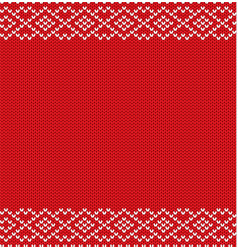 Knitted winter holiday geometric ornament with vector
