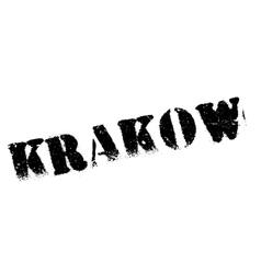 Krakow stamp rubber grunge vector