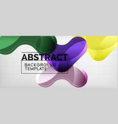 light effects glossy arrows background vector image