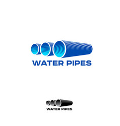 logo water pipe vector image
