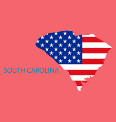 Map of south carolina usa travel and attractions vector