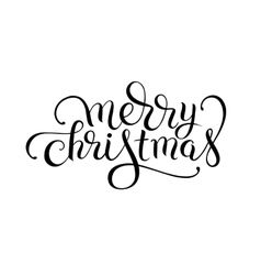 merry christmas original hand lettering vector image
