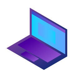 modern laptop icon isometric style vector image