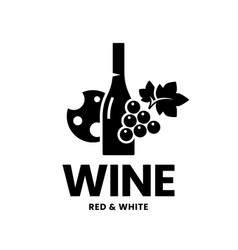 modern wine logo sign for tavern restaurant vector image