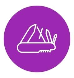 Multipurpose knife line icon vector