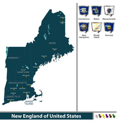 New england united states vector