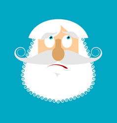 old man surprised emoji senior with gray beard vector image