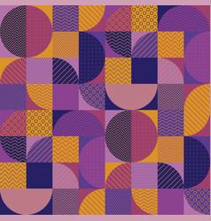 orange and purple tile and seamless patch pattern vector image