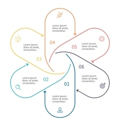 Outline infographic element with arrows vector