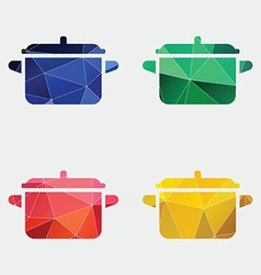 pot icon Abstract Triangle vector image