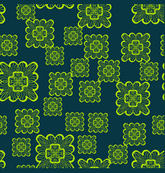 Print seamless geometric pattern with green vector