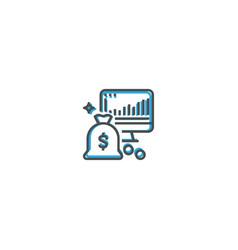 profit icon design startup icon design vector image