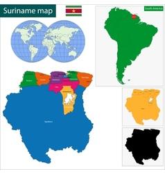 Republic of Suriname vector image