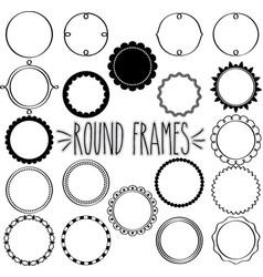Round frames multi set vector
