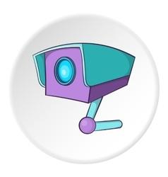 Security camera icon cartoon style vector