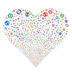 Service tools fireworks heart vector