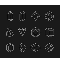 Set of line geometric shapes for logo vector image