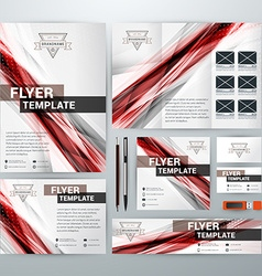 Set of Stationery Design Templates Flyer Booklet vector