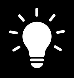 Simple light bulb globe line art icon vector