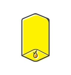 Sky lantern icon in flat style vector