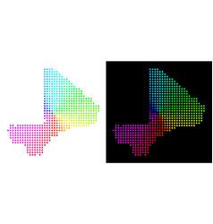 Spectral dot mali map vector